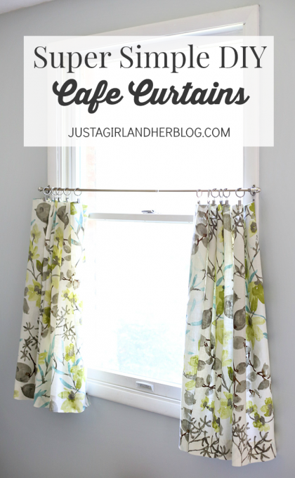 Your Cafe Curtains Curtains Craft Diy Share Super Simple Bathroom