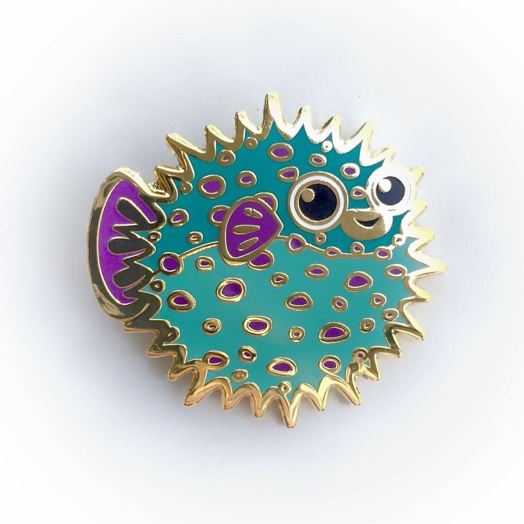 Blue whale kawaii cute enamel metal pin badge 25mm