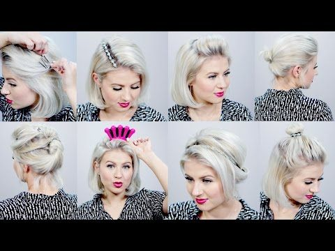 10 Short Hairstyles With Helpful Hair Tools Milabu Youtube Short Hair Styles Short Hair Tutorial Hair Tools