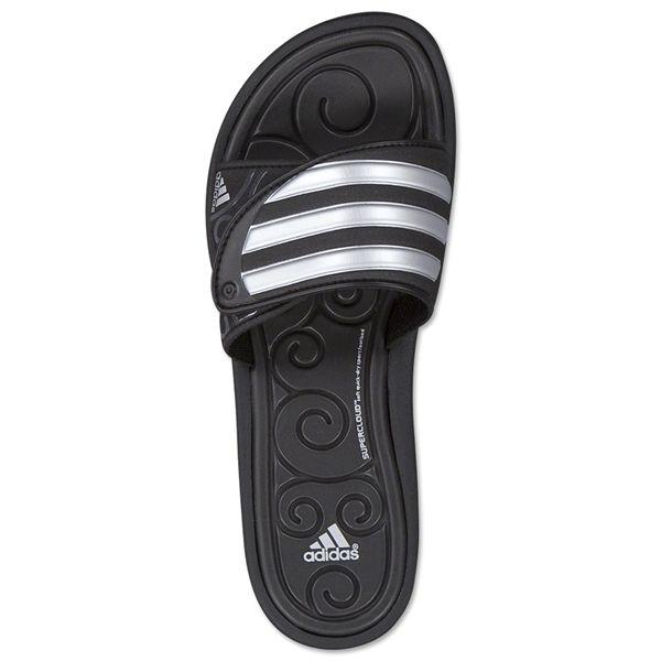 Women's Sandalsblackmetallic Silver Slide Sleekwana Adidas Sc OZuPkiXT