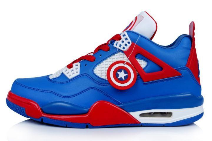 pálido Dólar impulso  Nike Air Jordan 4 Captain American Custom for Sale - Men Air Jordan 4 | Air  jordans, New jordans shoes, Jordan 4