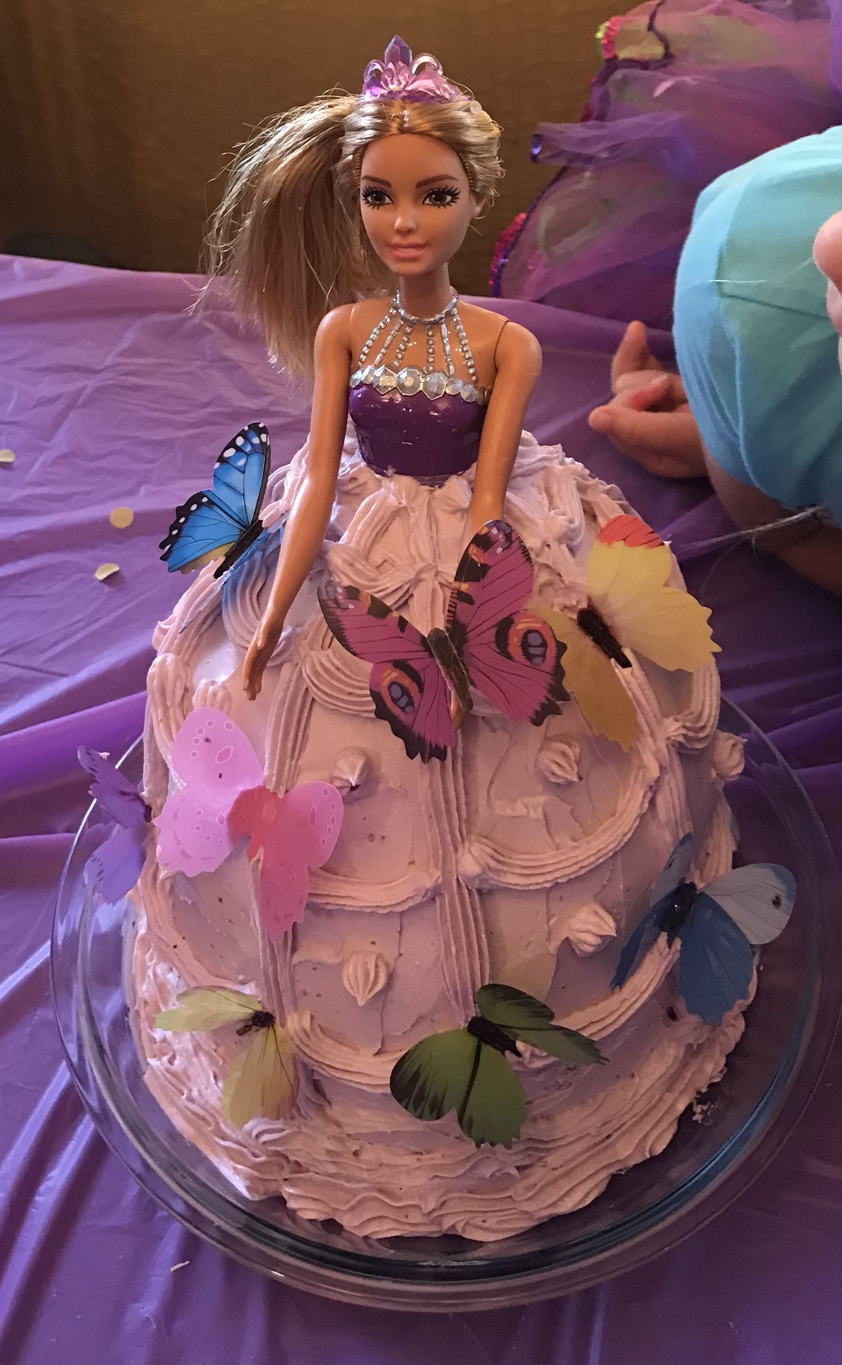 Lavender cake skirt made using (Whole Foods 365) plant based food ...