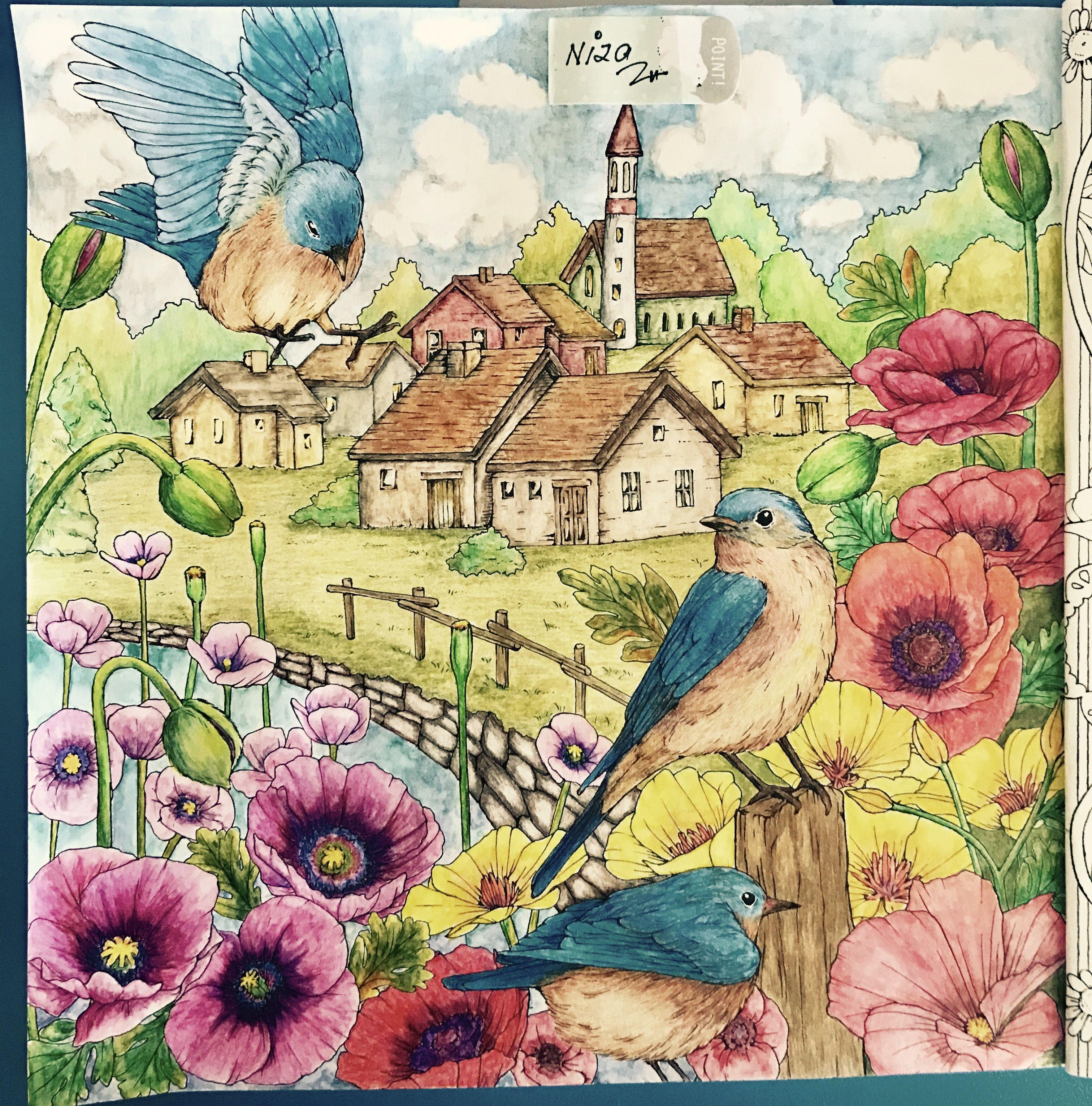 Menuet De Bonheur Enchanted Forest Coloring Book Forest Coloring Book Colorful Art