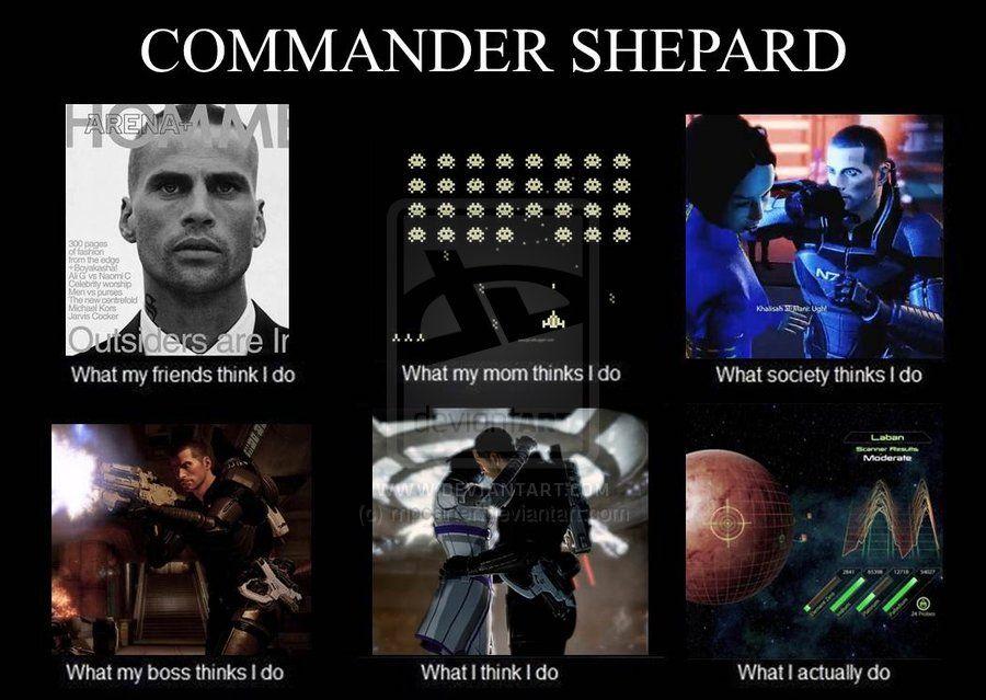 Commander Shepard Meme By Rnpcarter Deviantart Com On