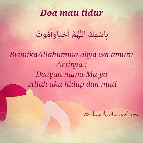 Doa Sebelum Tidur Doaharian Doa Islamic Muslimah Islam