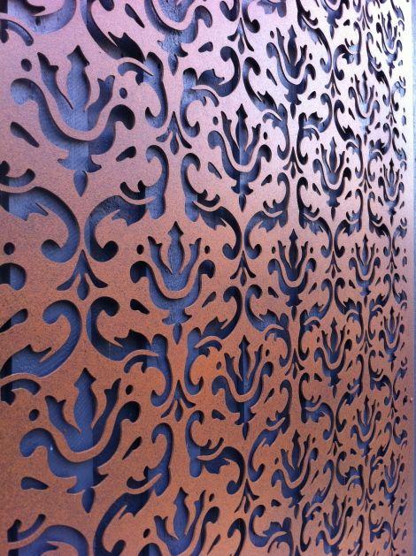 decorative screens laser cut screens custom screens designer corten melbourne - Decorative Metal Panels
