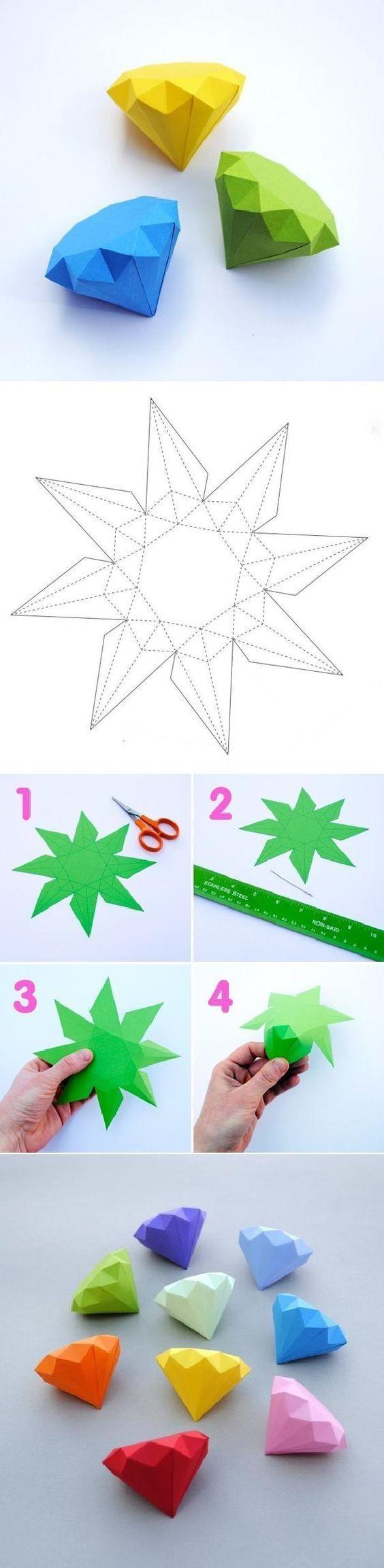 Kak Sdelat Obemnye Geometricheskie Figury Iz Bumagi Shemy Shablony Remesla Remeslennye Uchebnye Posobiya Geometricheskie Figury