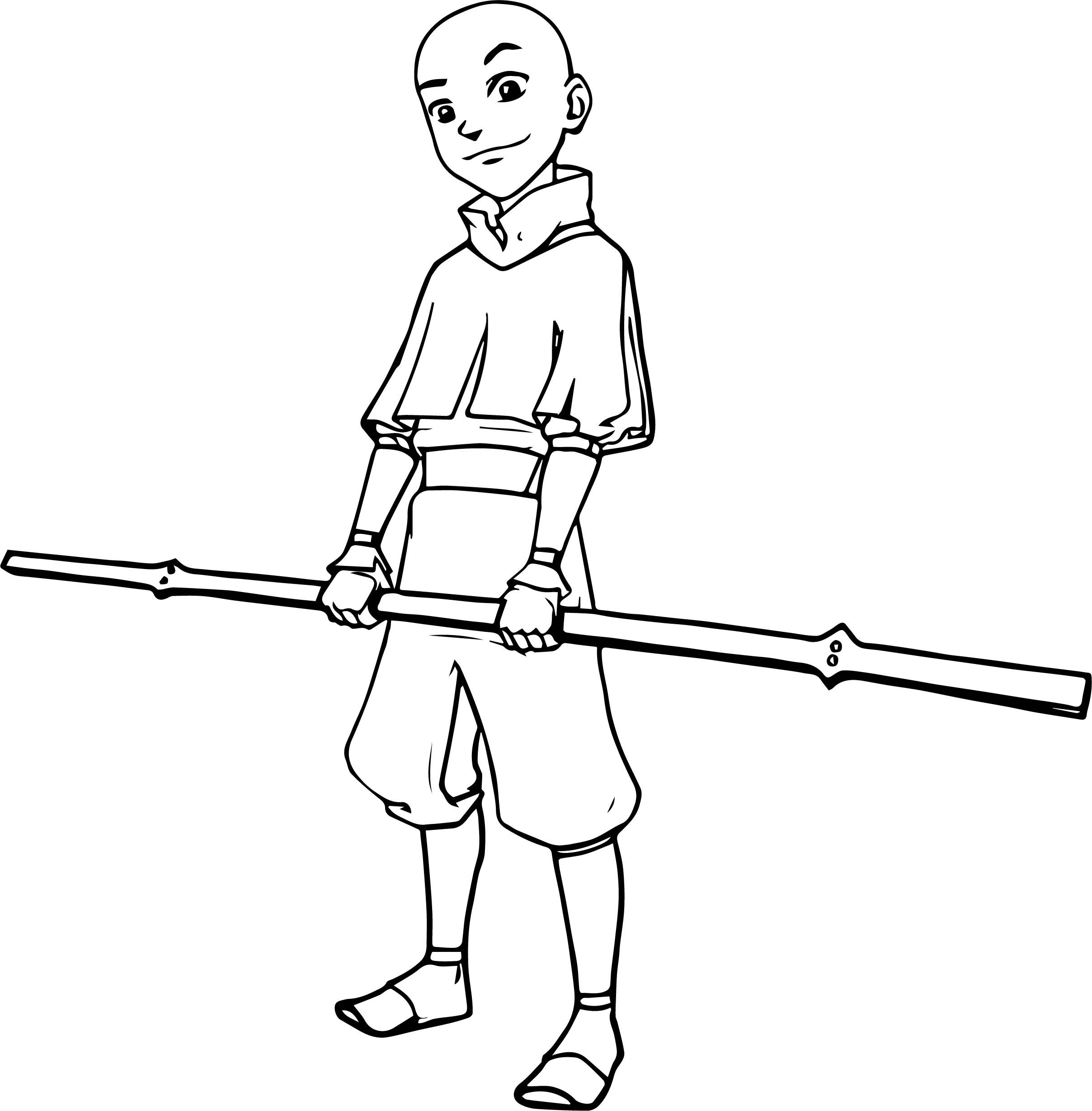 Cool Aang Avatar Stick Coloring Page Batman Coloring Pages