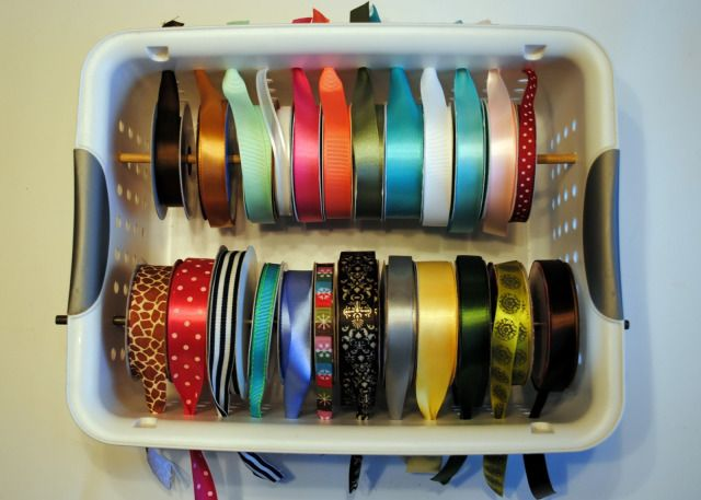 Good way to organise your ribbon without having it on display