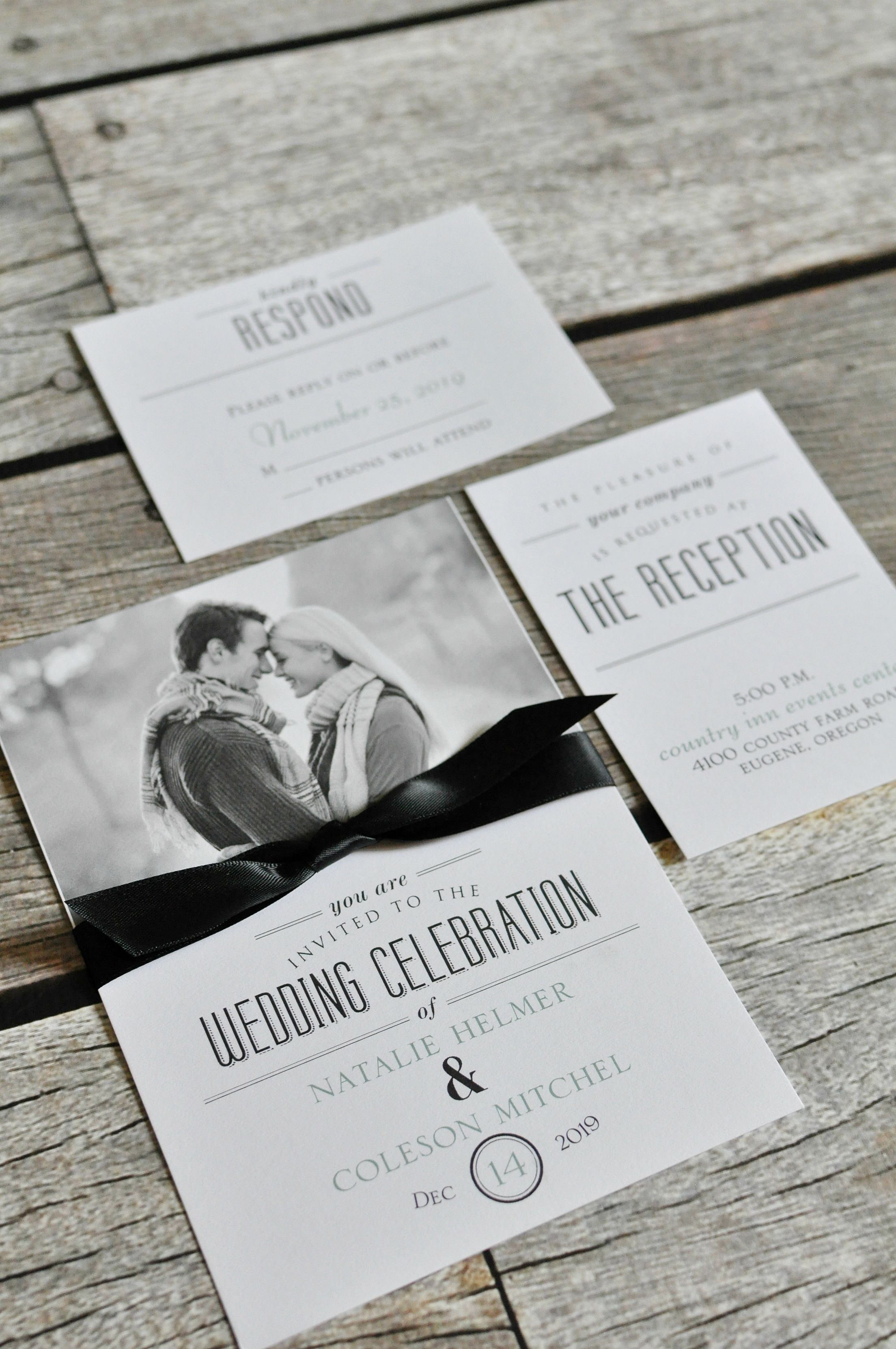 Modern meets classic with these wedding invitations from ...