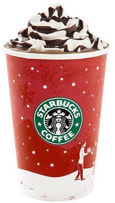 Starbucks Christmas Menu.Starbucks Hot Holiday Menu Christmas White Chocolate