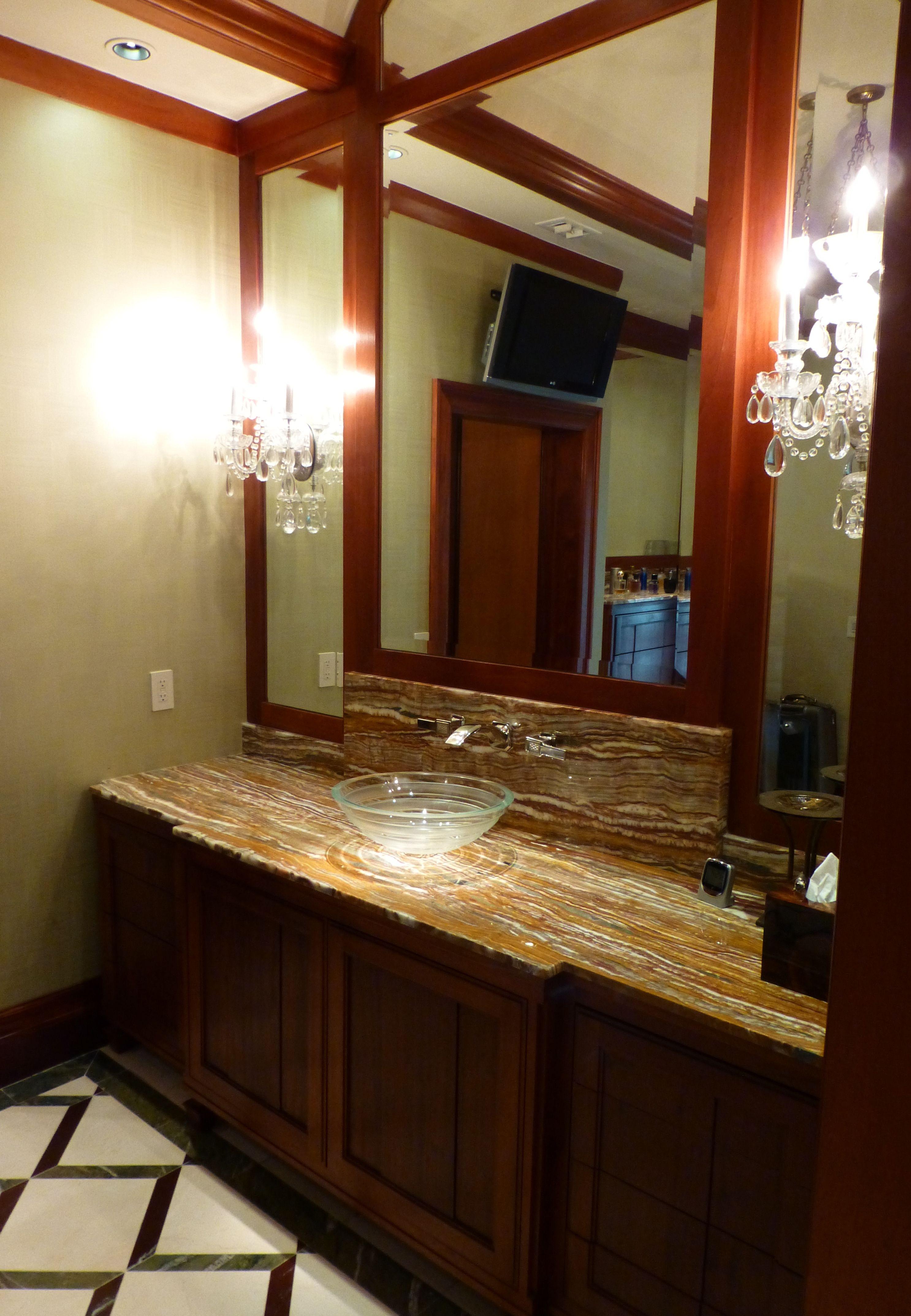 River Oaks renovation. A view of his master bath.