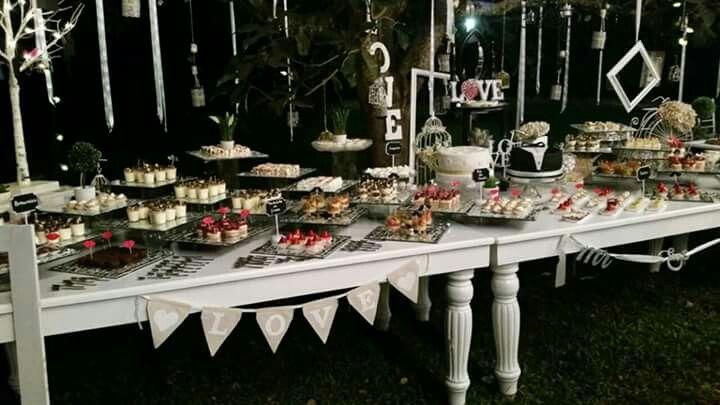 Mesa postres Vintage boda