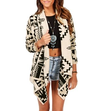 Ivory/Black Aztec Sweater