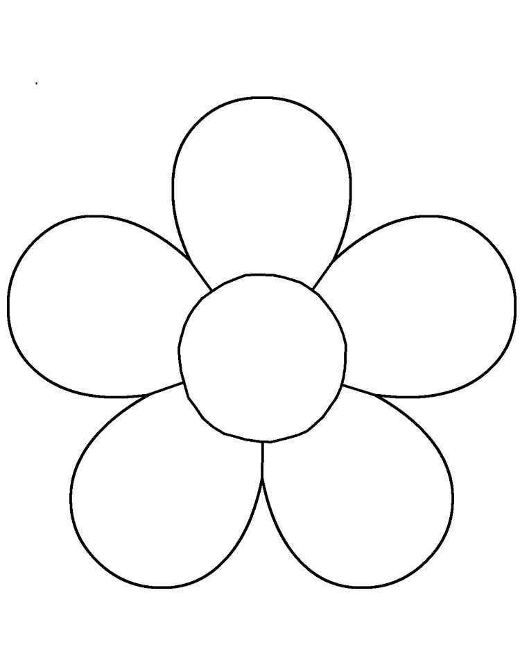 Coloring Pages Of Flower Petals Flower Templates Printable