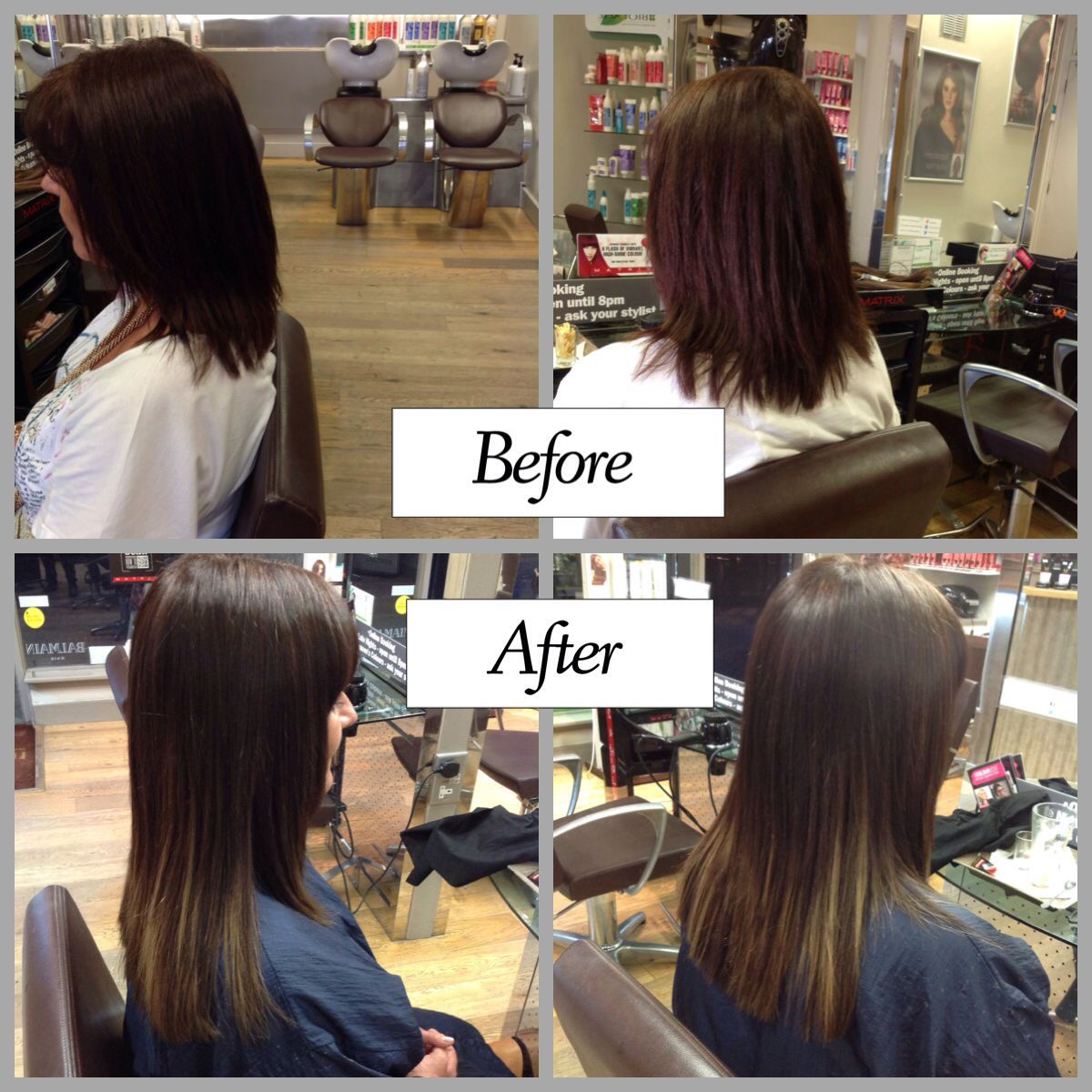 Hair Extensions for added Length, Volume and risk free colour- if your hair is damaged or you just wish to avoid bleach, we can offer you hair additions! - hair by Hollie