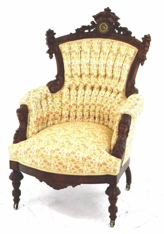 Antique Parlor Chair: - Antique Parlor Chair: Sillones Y Sillas Llenos De Arte Pinterest