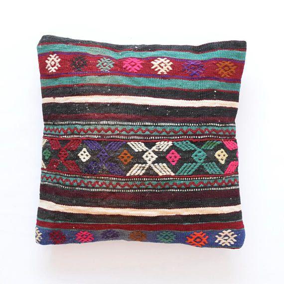 Pillow handmade turkish pillow 20x20 decorative pillow asian pillow ...