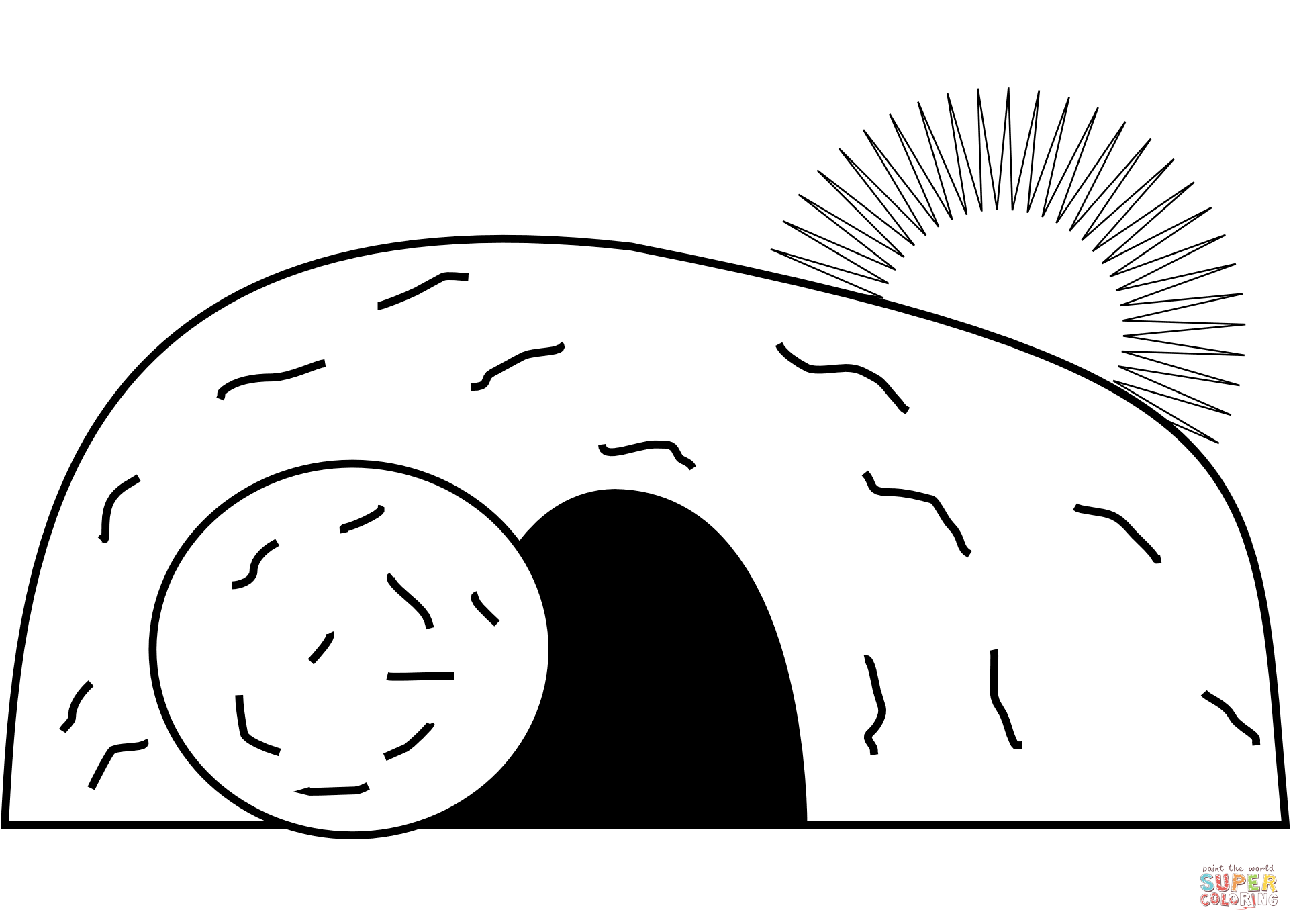 Jesus Empty Tomb Super Coloring Bible Coloring Pages Coloring Pages Sunday School Kids [ 1376 x 1926 Pixel ]