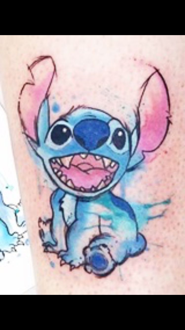 If you decide to get a tattoo look at the image of a fox this animal - Stitch Watercolor