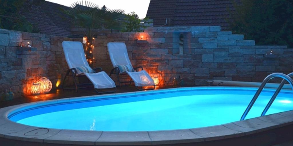 Was gibt es sch neres als an einem warmen sommerabend am for Ovaler pool garten