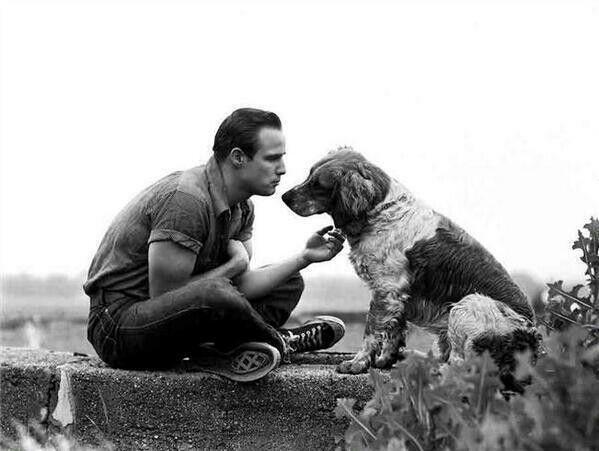 Marlon Brando and friend