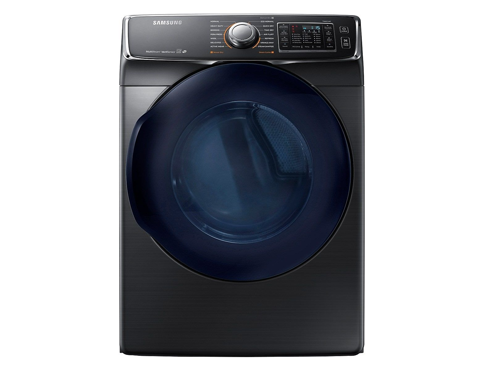 Samsung 7 5 Cu Ft Electric Dryer In Black Stainless Steel