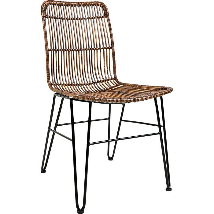 Gypsum Solid Wood Dining Chair Rattan Dining Chairs