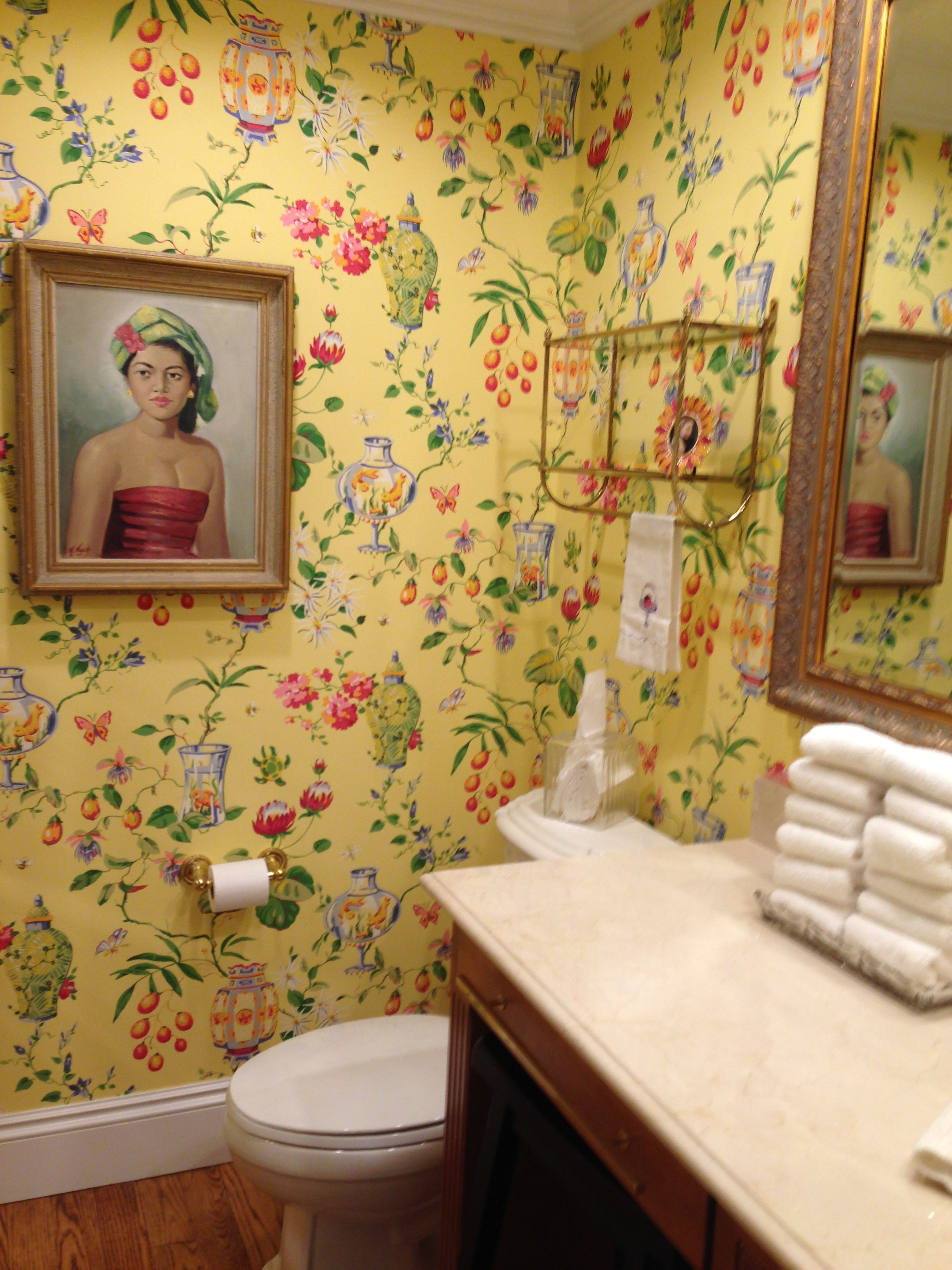 Beautiful Thibaut Chinoiserie Wallpaper But I Think Like The Soft Peach Background Of This