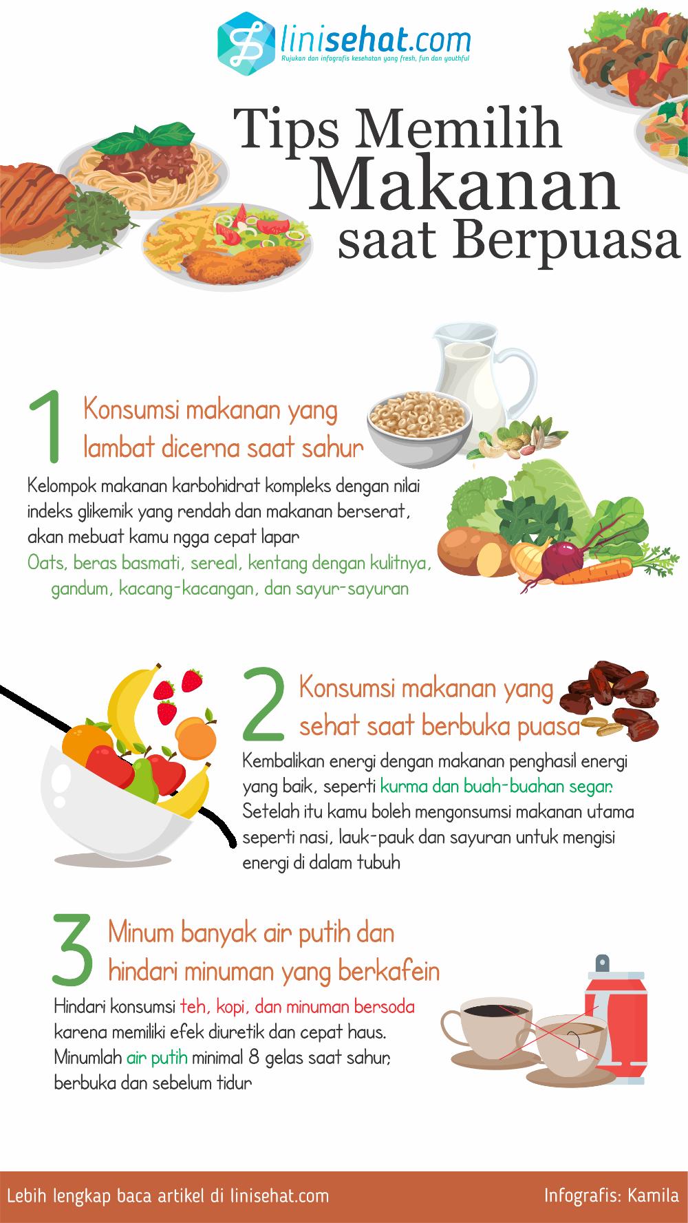 3 Tips Memilih Makanan Saat Berpuasa Linisehat Com Motivasi Diet Kesehatan Nutrisi
