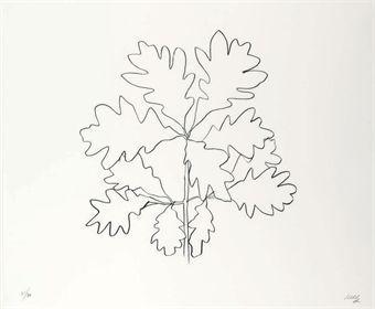 Oak VI, from Oak Leaves (G. 1570)    Ellsworth Kelly