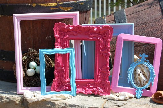 Shabby Chic Frames  6 Ornate Picture Frames   by rusticathart