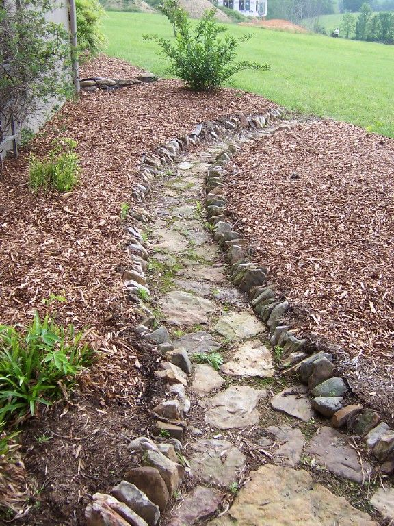 Fieldstone Pathway Charlie S Antiques Landscape Edging Stone Landscaping Walkway Landscaping