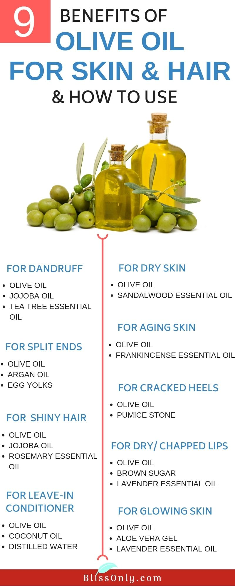 10 benefits of olive oil for skin and hair and how to use