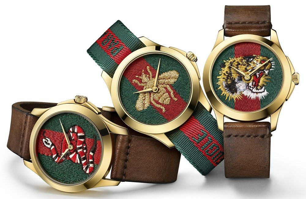 204294aa8f0 Gucci releases new Dive Watches For 2017 With Embroidery   Rubber Animal  Dials. Very artistic and probably never before in a men s watch this style  may ...