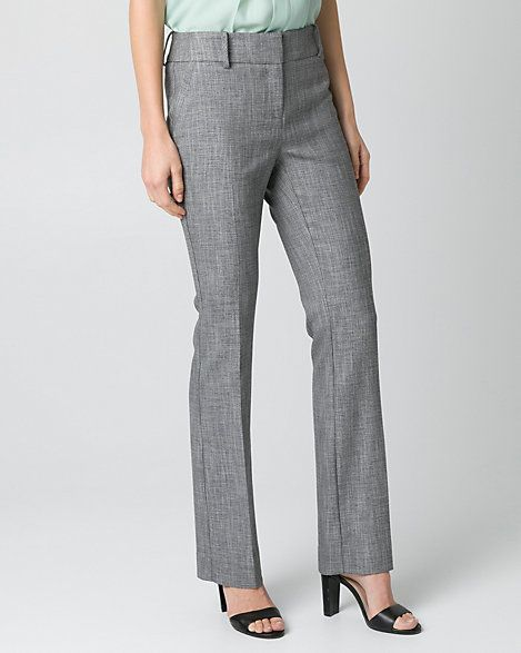 b18cbaa424 Crosshatch Viscose Blend Flare Leg Pant | LE CHÂTEAU | clothes for ...