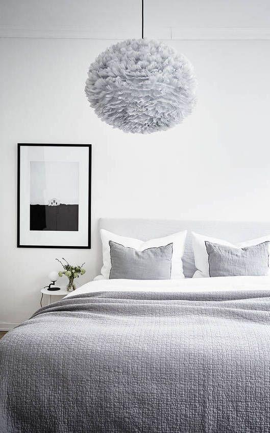 Designer Bedroom Lamps Extraordinary Fresh Home In Grey  Via Coco Lapine Design  Maison  Pinterest 2018