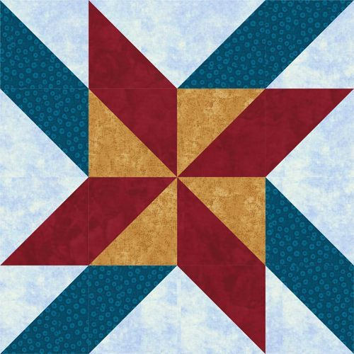 Mosaic Pinwheels Quilt Blocks With Side By Side Links Quilt
