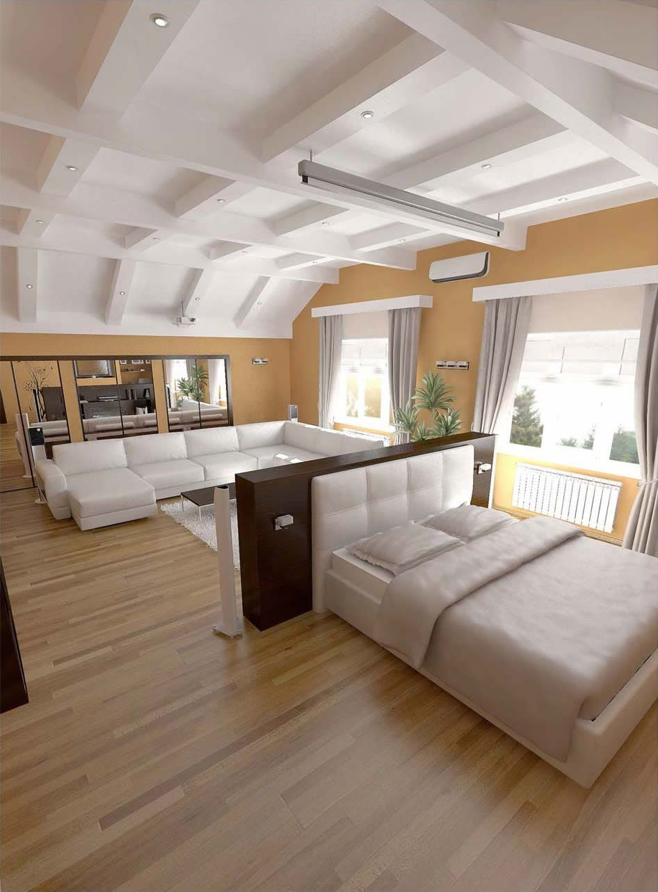 living room bedroom combo - Google Search   Small Spaces ...