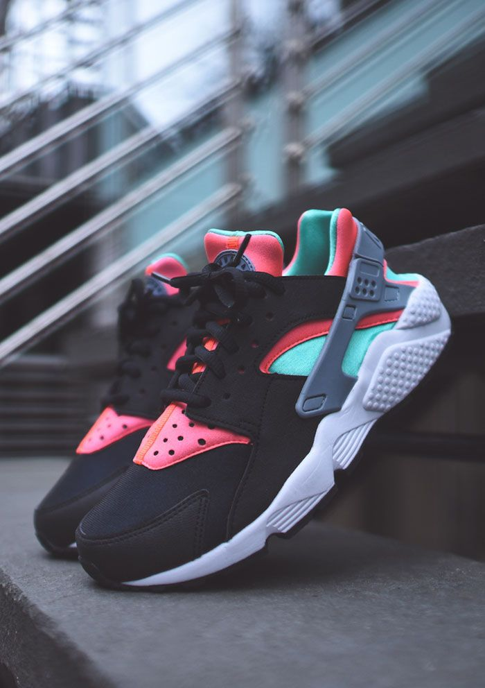 new style 79b63 11592 Come and see if your love shoes are on the list.Only 22 USD,You must get  it. NIKE WMNS Air Huarache Run - Black   Menta   Hot Lava ...