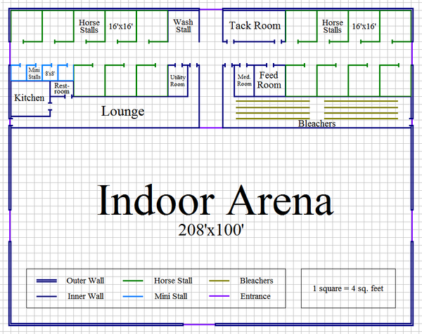 Image gallery horse arena layout for 8 stall barn plans