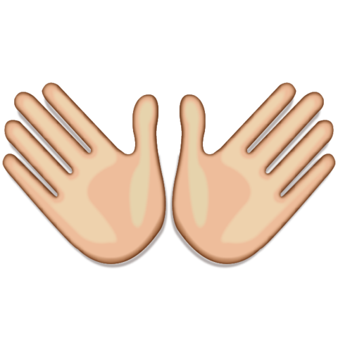 White Open Hands Sign Emoji Open Hands Hands Icon Cool Emoji