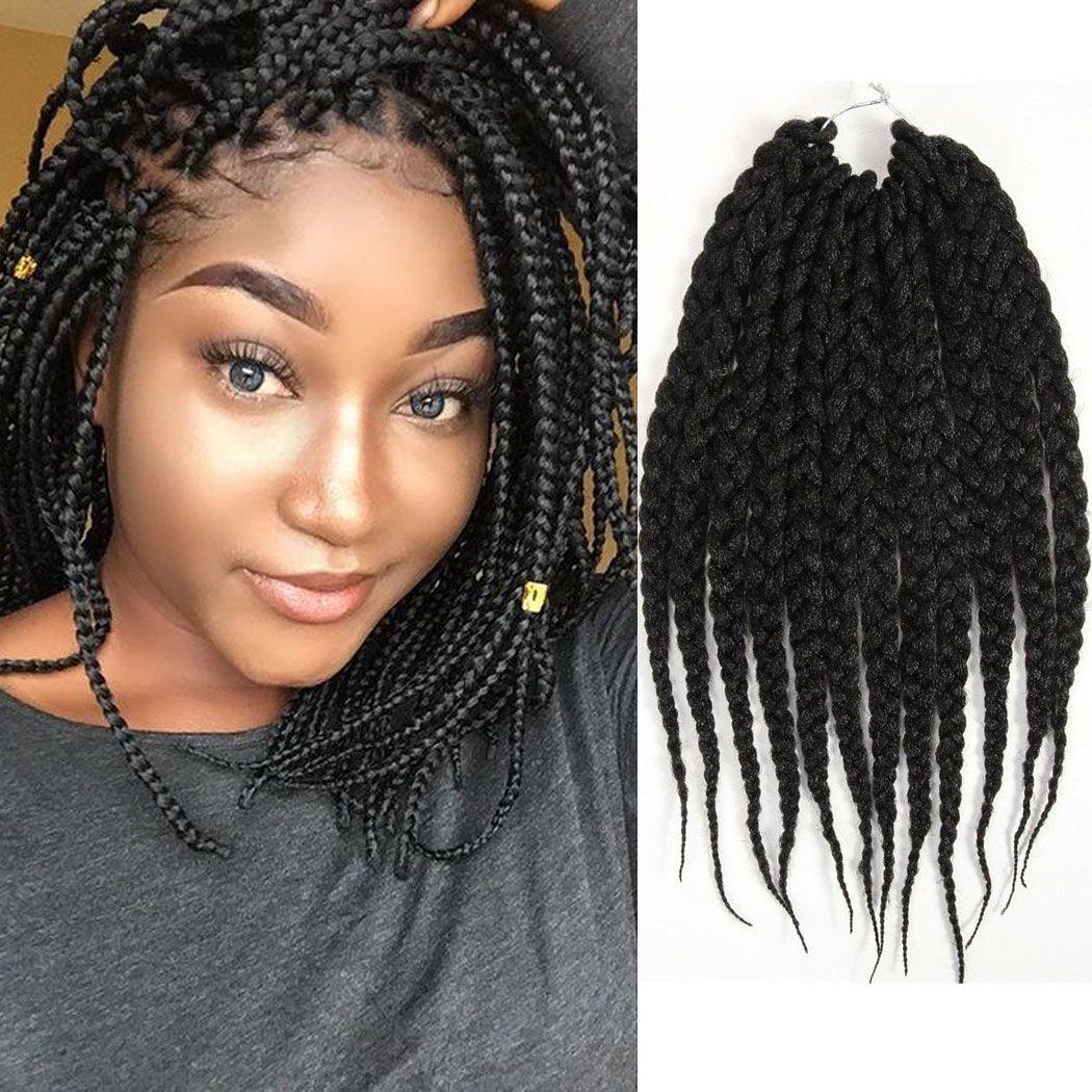 12 Inches 6 Packs Box Braids Hair Synthetic Hair Extensions Crochet Hair Senegalese Twist B Faux Locs Hairstyles Havana Mambo Twist Crochet Crochet Hair Styles