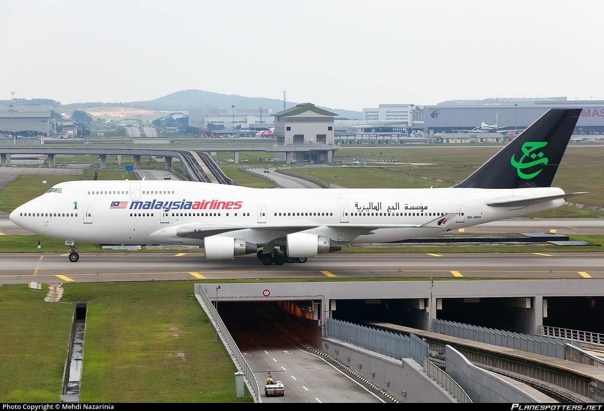 36dac040a4c0 Malaysia Airlines Boeing 747-4H6 in the