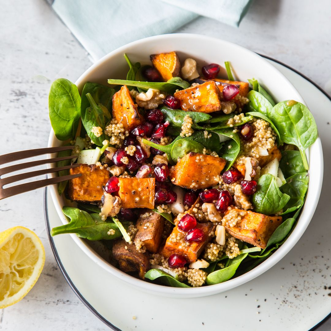 Photo of Tolle tuber to power: sweet potato and spinach salad with quinoa