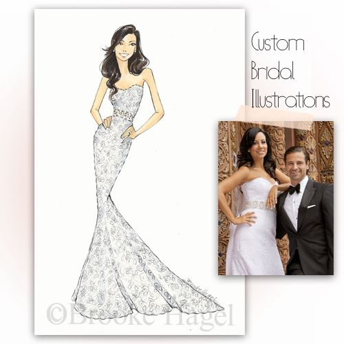 Brooke Hagel- Custom Bridal Illustrations