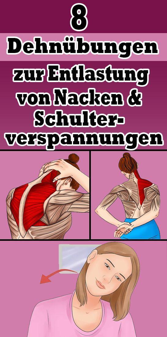8 Dehnübungen zur Linderung von Nacken- und Schulterverspannungen   - Fitness Gesundheit - #Dehnübun...