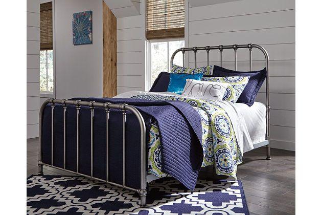 Nashburg Queen Metal Bed Silver Large Queen Metal Bed Metal