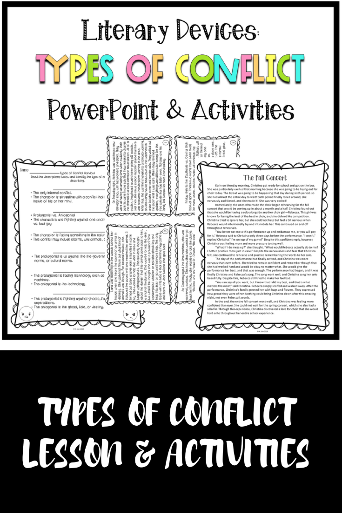 Types Of Conflict Powerpoint And Activities Literary