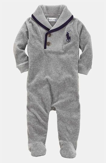 091a1894 Ralph Lauren Velour Footie (Infant) available at #Nordstrom | Best ...